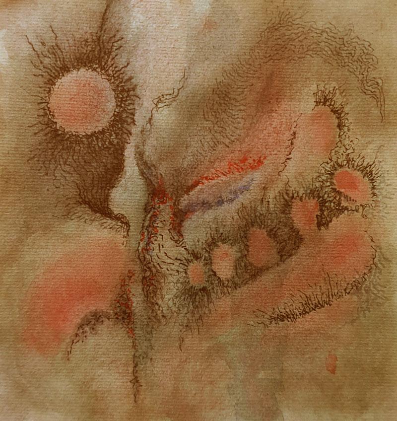 Acuarela y tinta china, 17,5 x 16,5 cm, 2020