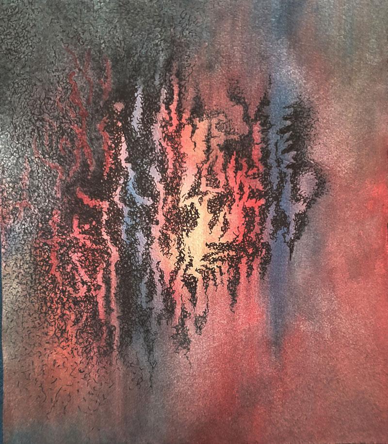 Acuarela y tinta china, 20 x 17,5 cm, 2020