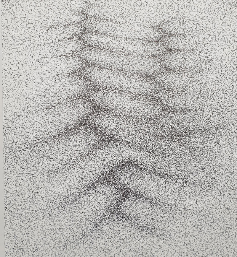 Células - Dibujo con tinta china, 25 x 23 cm, 2020